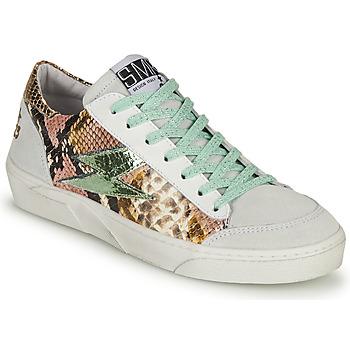 Sko Dame Lave sneakers Semerdjian ELISE Hvid / Brun