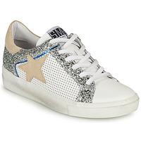 Sko Dame Lave sneakers Semerdjian CARLA Hvid / Sølv / Beige