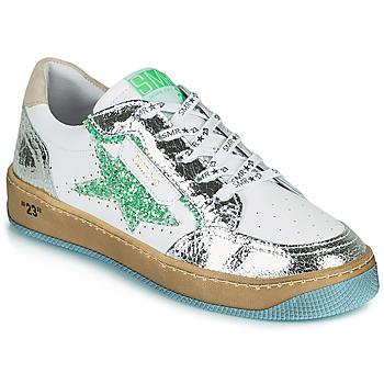 Sko Dame Lave sneakers Semerdjian ARTO Hvid / Sølv / Grøn
