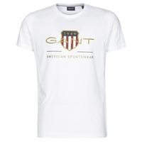 textil Herre T-shirts m. korte ærmer Gant ARCHIVE SHIELD Hvid