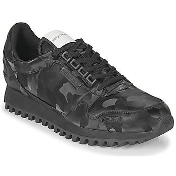 Sko Herre Lave sneakers Emporio Armani AUTRIA Sort