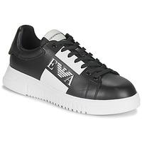 Sko Herre Lave sneakers Emporio Armani MALTA Sort / Hvid