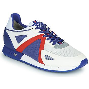 Sko Herre Lave sneakers Emporio Armani EA7 SAPONI Hvid / Blå / Rød