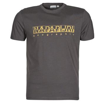 textil Herre T-shirts m. korte ærmer Napapijri SALLAR SS Grå / Mørk