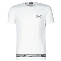 textil Herre T-shirts m. korte ærmer Emporio Armani EA7 3KPT05-PJ03Z-1100 Hvid