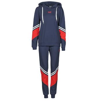 textil Dame Træningsdragter Emporio Armani EA7 3KTV65-TJ3PZ-1554 Marineblå / Hvid / Rød