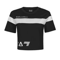 textil Dame T-shirts m. korte ærmer Emporio Armani EA7 3KTT05-TJ9ZZ-1200 Sort / Hvid
