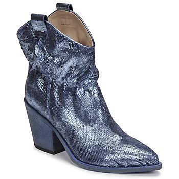 Sko Dame Høje støvletter Fru.it 6901-376-BLUE Blå