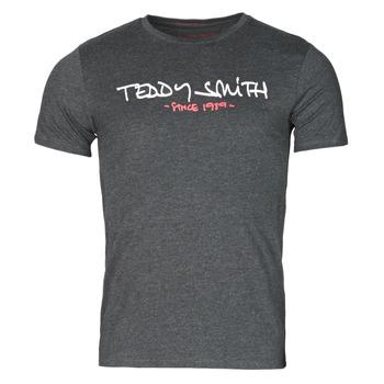 textil Herre T-shirts m. korte ærmer Teddy Smith TICLASS Grå / Mørk