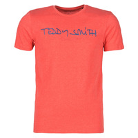 textil Herre T-shirts m. korte ærmer Teddy Smith TICLASS Rød