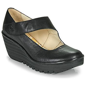 Sko Dame Højhælede sko Fly London YASI Sort