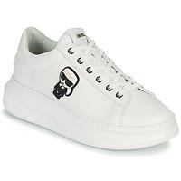 Sko Dame Lave sneakers Karl Lagerfeld KAPRI KARL IKONIC LO LACE Hvid