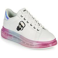 Sko Dame Lave sneakers Karl Lagerfeld KAPRI KUSHION KARL IKONIC LO LACE Hvid / Flerfarvet