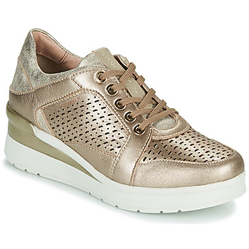 Sko Dame Lave sneakers Stonefly CREAM 33 Guld