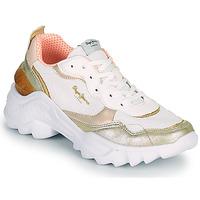 Sko Dame Lave sneakers Pepe jeans ECCLES TOP Hvid / Guld