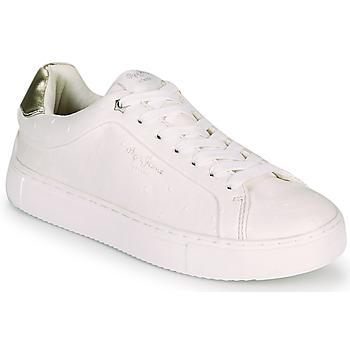 Sko Dame Lave sneakers Pepe jeans ADAMS MOLLY Hvid / Guld