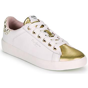 Sko Dame Lave sneakers Pepe jeans KIOTO FIRE Hvid / Guld