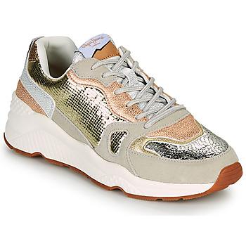 Sko Dame Lave sneakers Pepe jeans HARLOW GOLDEN Beige / Guld