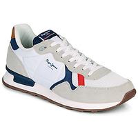 Sko Herre Lave sneakers Pepe jeans BRITT MAN BASIC Hvid / Beige