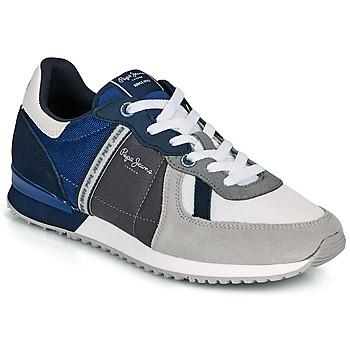 Sko Herre Lave sneakers Pepe jeans TINKER ZERO 21 Grå / Blå