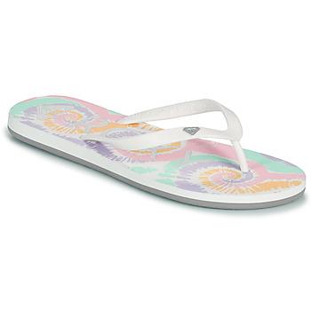 Sko Dame Klipklapper  Roxy TAHITI VII Hvid / Pink