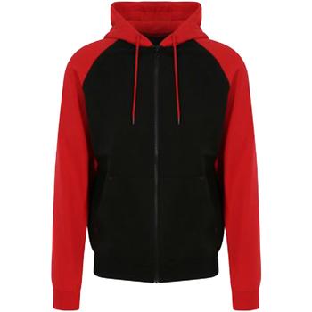 textil Herre Sweatshirts Awdis JH063 Jet Black/Fire Red