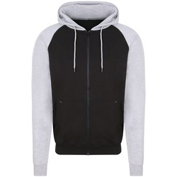 textil Herre Sweatshirts Awdis JH063 Jet Black/Heather Grey