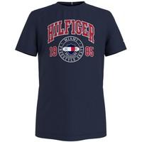 textil Dreng T-shirts m. korte ærmer Tommy Hilfiger CRISA Marineblå