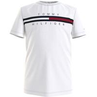 textil Dreng T-shirts m. korte ærmer Tommy Hilfiger KB0KB06532-YBR Hvid