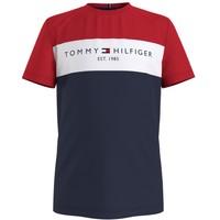 textil Dreng T-shirts m. korte ærmer Tommy Hilfiger KB0KB06534-C87 Flerfarvet