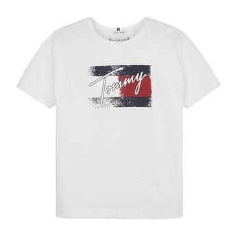 textil Pige T-shirts m. korte ærmer Tommy Hilfiger MONCHE Hvid