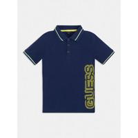 textil Dreng Polo-t-shirts m. korte ærmer Guess L1GP00-KADZ0-DEKB Marineblå
