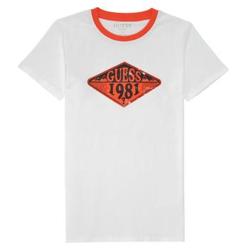 textil Dreng T-shirts m. korte ærmer Guess L1GI09-K8HM0-TWHT Hvid