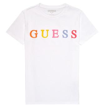 textil Pige T-shirts m. korte ærmer Guess H1RJ04-K8HM0-TWHT Hvid
