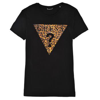 textil Pige T-shirts m. korte ærmer Guess J1RI27-K9MV0-P954 Sort