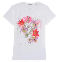 textil Pige T-shirts m. korte ærmer Guess J1RI24-K6YW1-TWHT Hvid