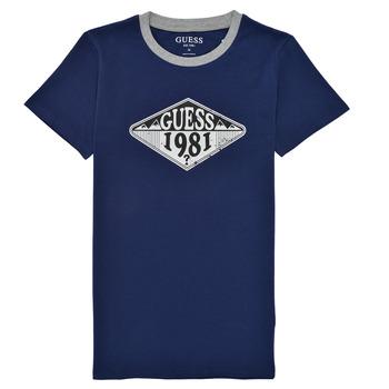 textil Dreng T-shirts m. korte ærmer Guess L1GI09-K8HM0-DEKB Marineblå