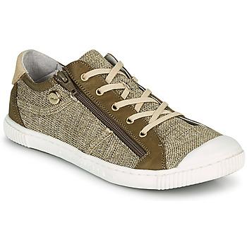 Sko Dame Lave sneakers Pataugas BOMY F2G Guld / Kaki