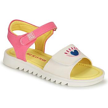 Sko Pige Sandaler Agatha Ruiz de la Prada SMILEY Hvid / Pink