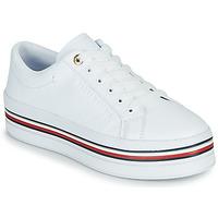 Sko Dame Lave sneakers Tommy Hilfiger CORPORATE FLATFORM CUPSOLE Hvid