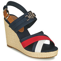 Sko Dame Sandaler Tommy Hilfiger ESSENTIAL HARDWARE HIGH WEDGE Hvid / Blå / Rød