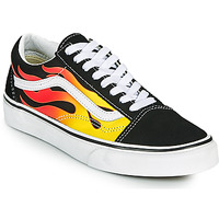 Sko Lave sneakers Vans OLD SKOOL Sort / Orange