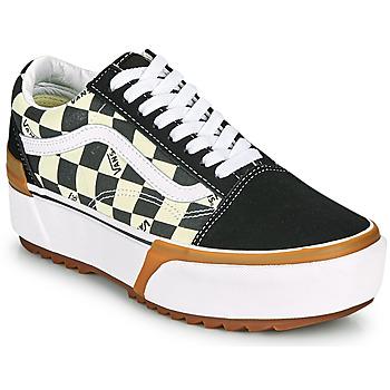 Sko Dame Lave sneakers Vans OLD SKOOL STACKED Sort / Hvid