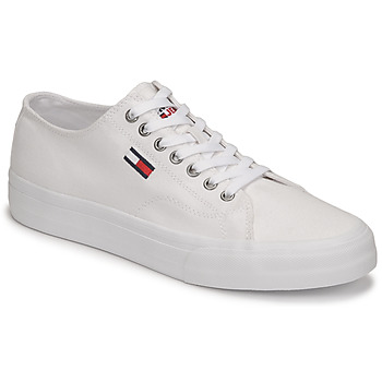 Sko Herre Lave sneakers Tommy Jeans LONG LACE UP VULC Hvid