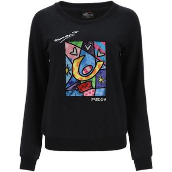 textil Dame Sweatshirts Freddy F0WBRS4 Sort