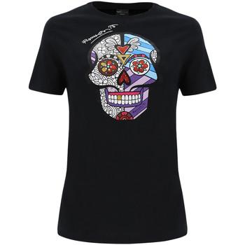 textil Dame T-shirts & poloer Freddy F0WBRT2 Sort