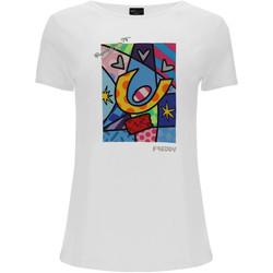 textil Dame T-shirts & poloer Freddy F0WBRT1 hvid