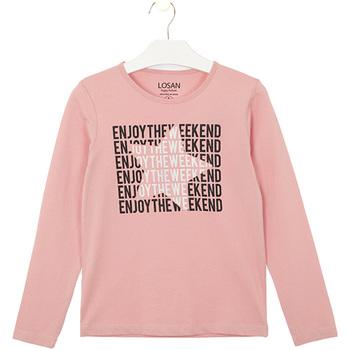 textil Børn T-shirts & poloer Losan 024-1631AL Lyserød