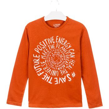 textil Børn T-shirts & poloer Losan 023-1013AL Orange