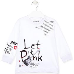 textil Børn T-shirts & poloer Losan 025-1000AL hvid
